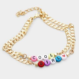 Colorful Beaded Gold Chain COOL GIRL Cute Anklet